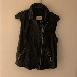 Faux Leather Vest NWOT